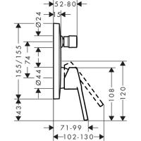 Набор смесителей Hansgrohe Logis Loop (71264111)