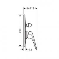 Душевой комплект Hansgrohe Novus (1В111218)