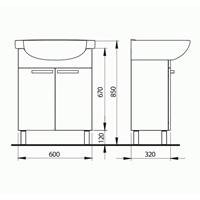 Kolo FREJA комплект мебели 55 см