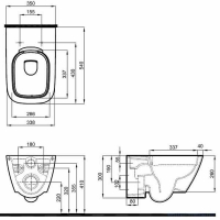 Унитаз подвесной Kolo Modo Rimfree L33120900 Reflex