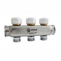 Коллектор распределительный RODA н/с с запорным клапаном 10 выходов