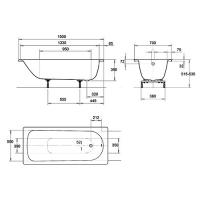 Kaldewei Eurowa 150x70 прямоугольная ванна