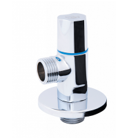 Кран угловой хромированный SD FORTE кран угловой (кругл) с керам.буксой- SD Forte 1/2*1/2