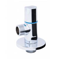 Кран угловой хромированный SD FORTE кран угловой (кругл) с керам.буксой- SD Forte 1/2*3/4