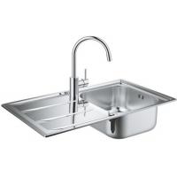 Grohe EX Sink 31570SD0 набор кухонная мойка K400 + смеситель Concetto 32663001