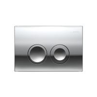 Смывная клавиша GEBERIT Delta 21, двойной смыв, пластик, хром матовый (115.125.46.1)