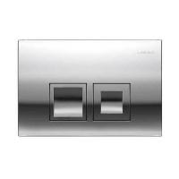 Смывная клавиша GEBERIT Delta 50,  двойной смыв, пластик, хром глянец (115.135.21.1)