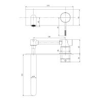 IMPRESE BRENTA смеситель для умывальника, скрытый монтаж, хром, 35мм ZMK071901030