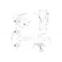 QT Set CRM 35-111 душевой набор (k35) QTSETCRM35111