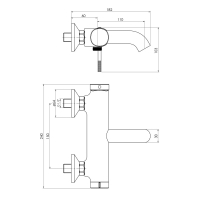 Смеситель для ванны IMPRESE BRENTA ZMK081906040