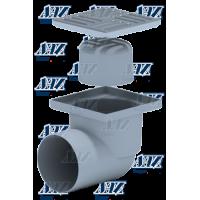 Анипласт ТА 1112 Трап горизонтальный нерегулируемый, с выпуском 110 мм, с нержавеющей решеткой 15х15 см.