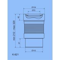 Анипласт K821 Удлинитель гибкий для унитаза с выпуском 110 мм