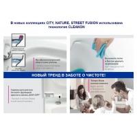 Унитаз-компакт Cersanit City New Clean on безободковый микролифт