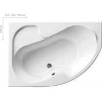 Ванна  RAVAK акриловая асимметричная ROSA I левая/правая 140 CI01000000