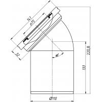 Анипласт W4220 Труба фановая 110x45°