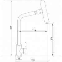 Imperial 31-107-32 Кухня U с поворотным изливом Нерж.