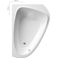 Ванна  RAVAK акриловая асимметричная двухместная LoveStory II 139 x 196 левая/правая C751000000