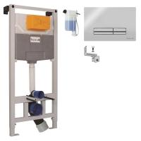 Комплект инсталляции IMPRESE для подвесного унитаза 3в1 (PANI хром) i9120OLIpure