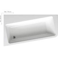 Ванна  RAVAK акриловая асимметричная 10 ° 160 левая/правая C831000000