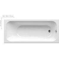 Ванна  RAVAK акриловая прямоугольная Chrome 150 C721000000