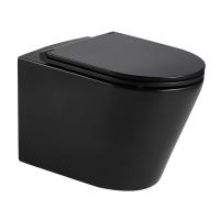 NEMO BLACK Rimless унитаз подвесной матовый, сиденье твердое Slim slow-closing 13-17-316 Black