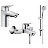 Набор смесителей Hansgrohe LOGIS набор смесителей для ванны (71100000+71400000+26553400)