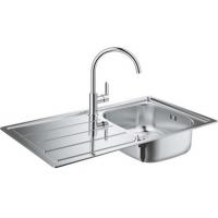 Grohe EX Sink 31562SD0 набор кухонная мойка K200 + смеситель BauEdge 31367000