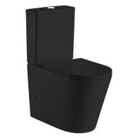 VOLLE унитаз компакт напольный безободковый NEMO RIMLESS 13-17-377 BLACK