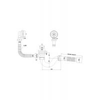 Анипласт C6155 Сифон Варяг для ванны с гибкой трубой 40x50