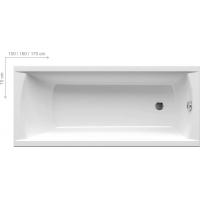 Ванна  RAVAK акриловая прямоугольная CLASSIC 120 C861000000