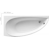 Ванна  RAVAK акриловая асимметричная  AVOCADO левая/правая 150 CT01000000