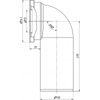 Анипласт W9220 Труба фановая 110x90°