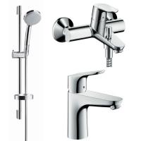 Набор смесителей Hansgrohe FOCUS набор смесителей для ванны (31607000+31940000+26553400)