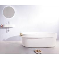 VOLLE  ванна отдельностоящая каменная с полочкой 163х75 см SOLID SURFACE 12-40-054