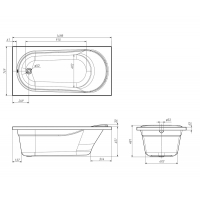 VOLLE ванна прямоугольная  акриловая 150х75 см IBERIA TS-1575481